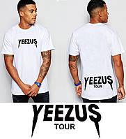 Футболка белая   Yeezus tour logo