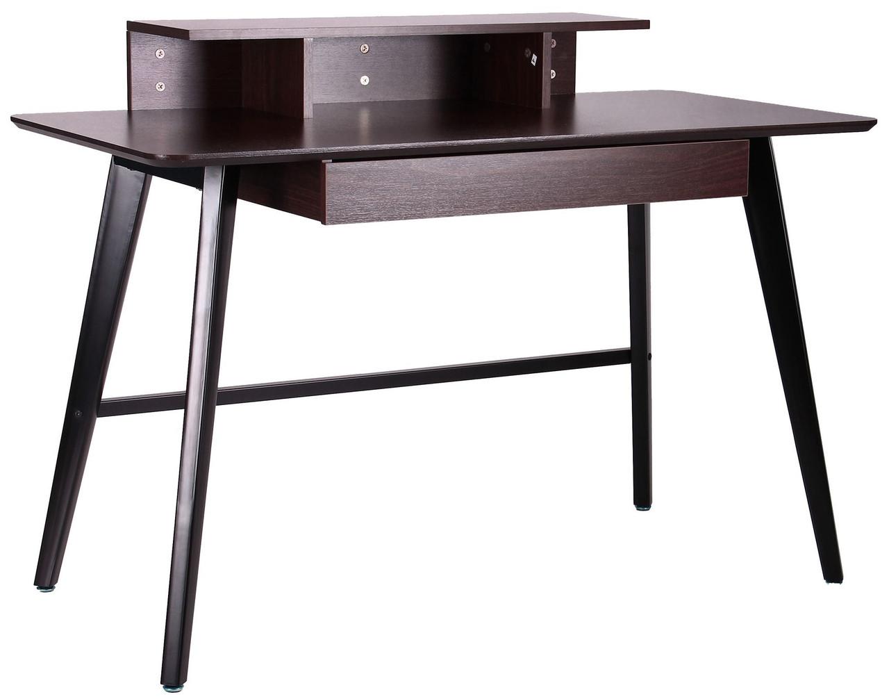 Компьютерный стол Bulgakov черный/орех темный ТМ AMF