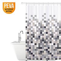Штора для ванной и душа из водонепроницаемого материала PEVA, 180*180 ,Польша