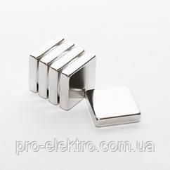 Неодимовый магнит квадрат 20х20х5 мм