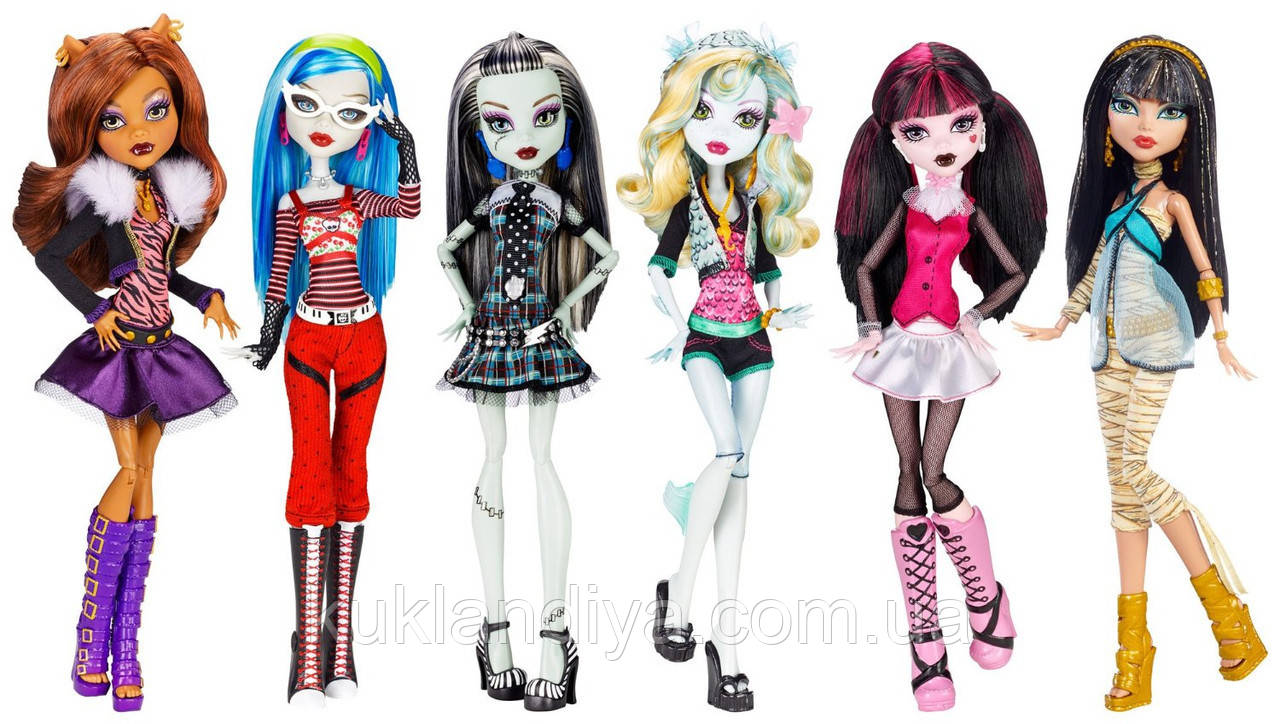 Набор 6 кукол Monster High Dolls Original Ghouls Collection Базовые