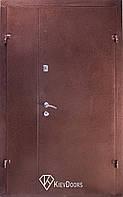 Двери ТИТАН+притвор (Металл+МДФ) 1200 мм, Медный антик снаружи, внутри МДФ 10 мм, толщина короба 100 мм,