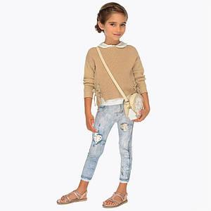 Леггинсы в виде потёртых джинс