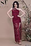 Женское облегающее вечернее гипюровое платье, декор -стразы 42,44,46р (6расцв) , фото 6