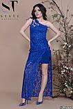 Женское облегающее вечернее гипюровое платье, декор -стразы 42,44,46р (6расцв) , фото 8