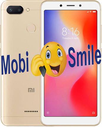 Смартфон Xiaomi Redmi 6 3/64Gb Gold Global Version Оригинал Гарантия 3 месяца / 12 месяцев, фото 2