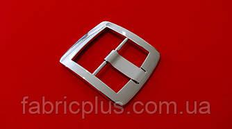 Пряжка декоративная 35 мм никель, металлическая