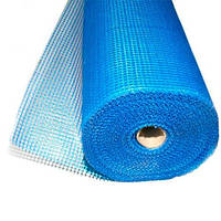 Сетка фасадная синяя 1м х 50м.п., 145 гр / м2