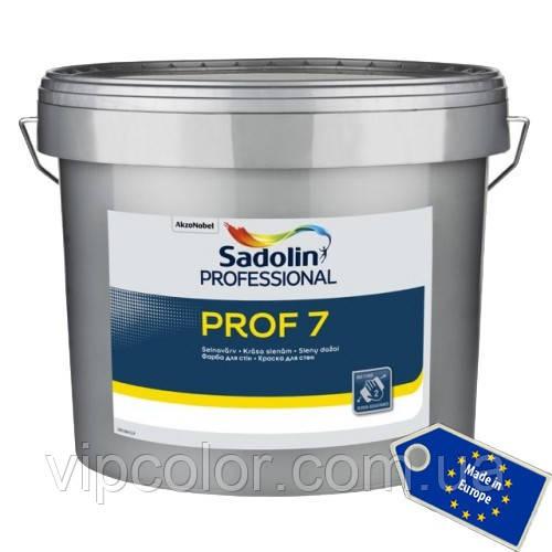 Sadolin PROF 7 Белая 10 л матовая латексная краска для внутренних работ