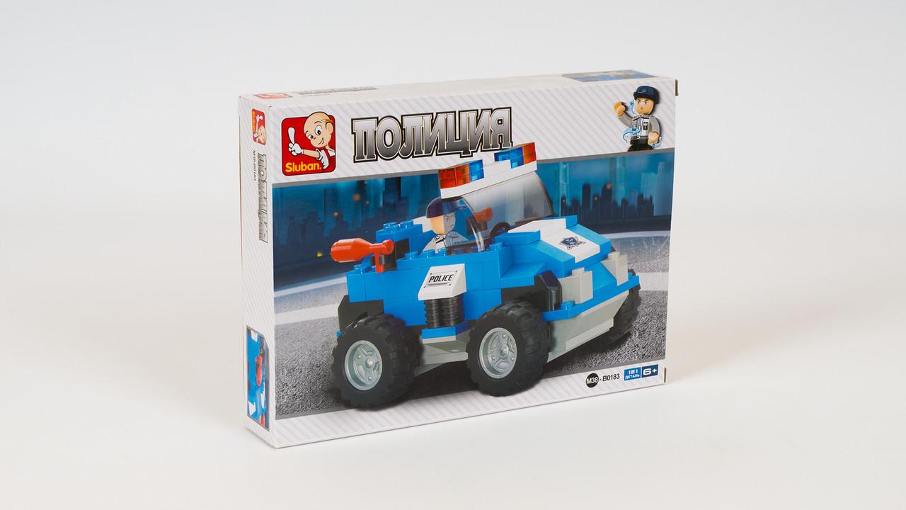 Конструктор SLUBAN автомобиль. Серия Полиция. В коробке 121 деталь