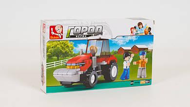 Конструктор SLUBAN - трактор. Серия Ферма. В коробке 103 детали