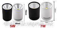 Світильник світлодіодний LED Світильник накладної COB 5W чорний 4000К, фото 4