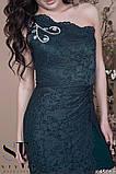 Женское облегающее вечернее гипюровое платье, декор -стразы 42,44,46р (6расцв) , фото 3