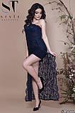 Женское облегающее вечернее гипюровое платье, декор -стразы 42,44,46р (6расцв) , фото 7