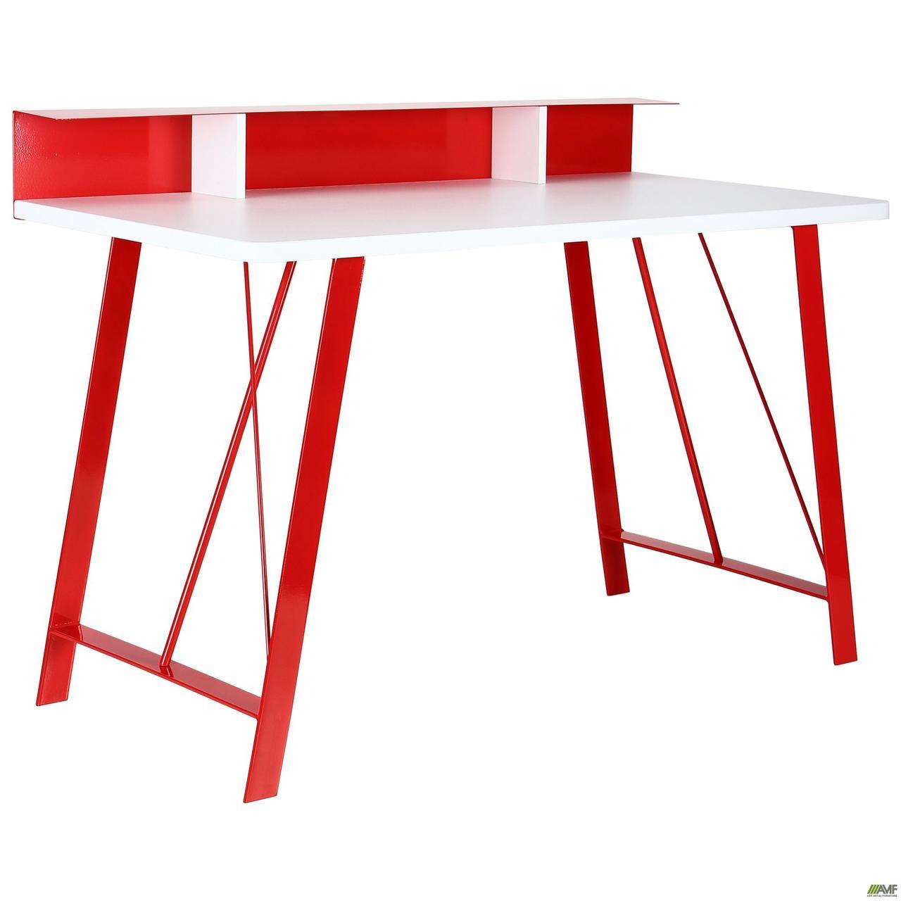 Компьютерный стол Mayakovsky красный/белый ТМ AMF