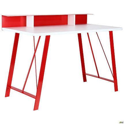 Компьютерный стол Mayakovsky красный/белый ТМ AMF, фото 2