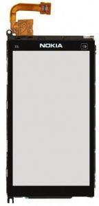 Тачскрин сенсор Nokia X6-00 черный с металлической рамкой