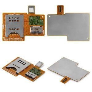 Коннектор SIM-карты и карты памяти для Sony ST23i Xperia Miro, на шлейфе