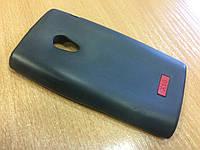 Силиконовый чехол для Sony Ericsson Xperia X10 (черный) + пленка