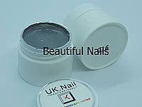 Гель-краска для ногтей UK.Nail №16 цвет серый,7 грамм, фото 1