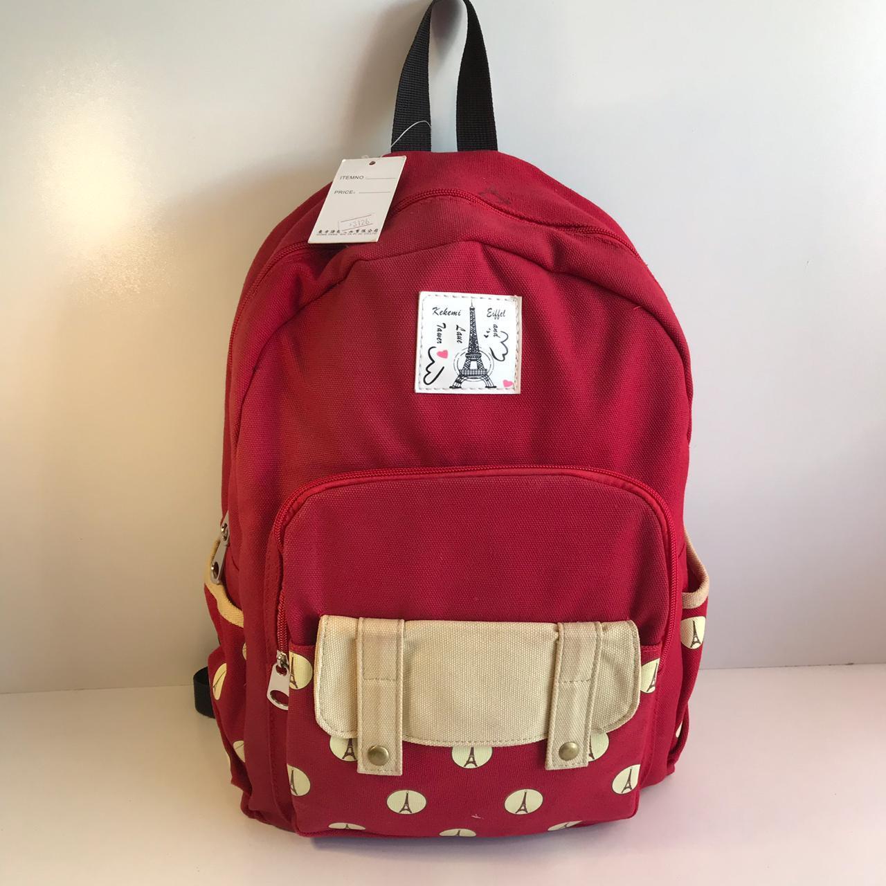 cc2d24a8f95b Женский тканевый рюкзак красный, цена 340 грн., купить в Одессе ...