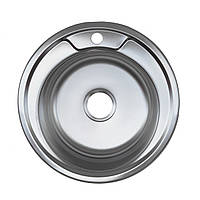 Мойка кухонная Platinum 490 мм декор 0,6 мм глубина 18 см