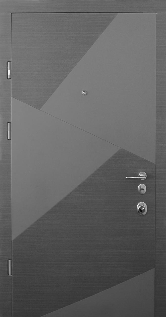Двери квартирные, STRAJ, модель SPLINT Prestige NEW, гнутый профиль, MOTTURA 54.797 MATIC