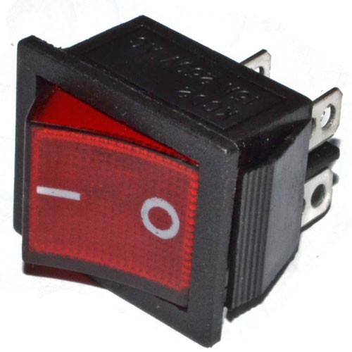Кнопочный выключатель широкий 28,5 * 22,0 мм с подсветкой