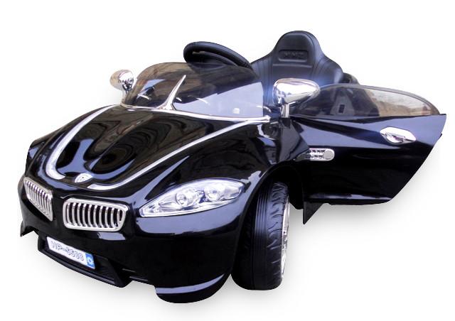 Электромобиль Кабриолет B3 + EVE мягкие колеса черный