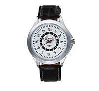 Мужские часы на кожаном ремешке DG470 черные