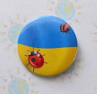 Значок сувенирный Символика Украины божья коровка, фото 1