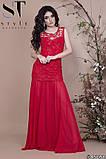 Женское длинное комбинированное вечернее платье 42,44,46р (7расцв), фото 8