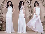 Женское длинное комбинированное вечернее платье 42,44,46р (7расцв), фото 9