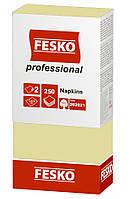 Серветки FESKO Professional 33*33 2 шар. шампань 250 шт.