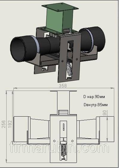 Сливной клапан СК90-180 (001) для стир. машины