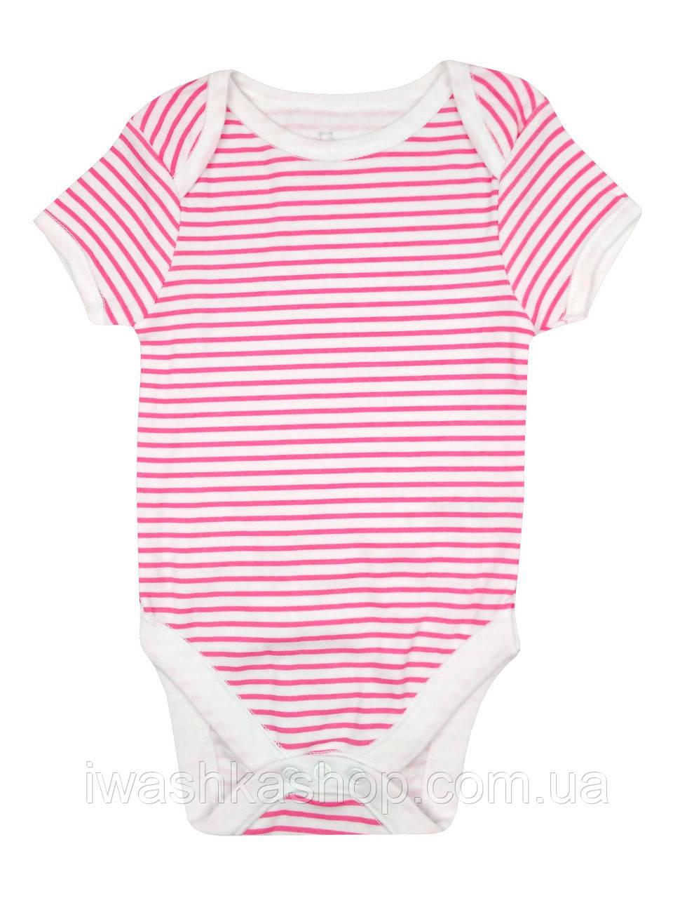 Полосатое боди с коротким рукавом для новорожденной девочки до 3.4 кг., Early days by Primark, Германия