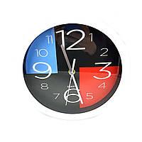 Часы №KK-55307 настен. пл. круг. с 2цв доской 2цв (4*22,5см) в кор.