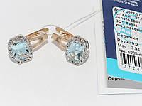 Золотые серьги с топазами 6283-ПТ