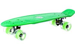 Детский скейтборд со светящимися колесами.Детский скейт пластик.