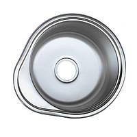 Кухонная мойка 48*43 см Platinum сатин\матовая 0,6 мм глубина 18 см