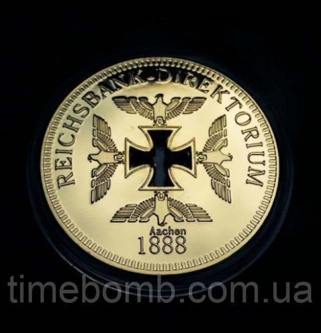Позолоченная полая сувенирная монета Reichsbank