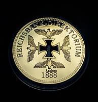 Позолоченная полая сувенирная монета Reichsbank, фото 1