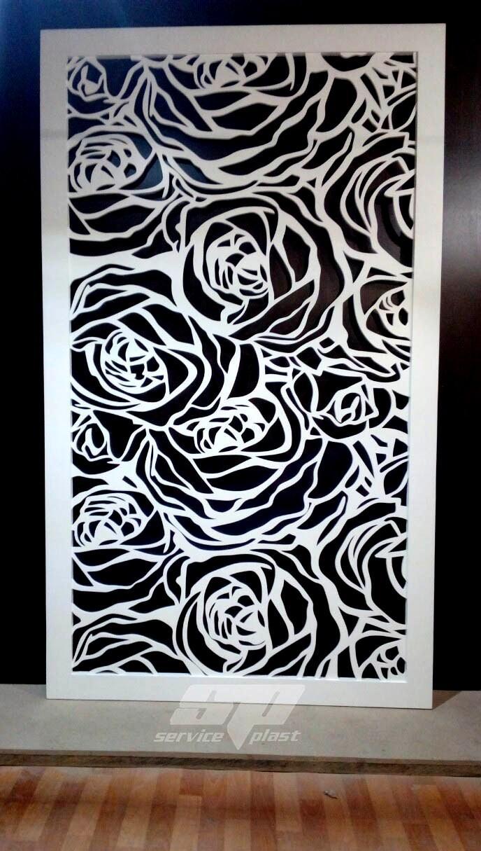 """Интерьерная перегородка """"Цветы"""", декоративные панели, деревянные ширмы, резные экраны"""