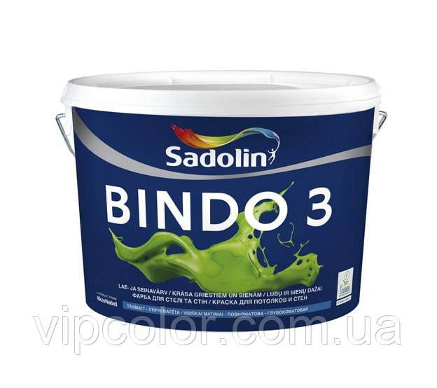 Sadolin BINDO 3 BW Белый 2,5 л краска для внутренних работ