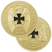 Позолоченная сувенирная монета банка Германии