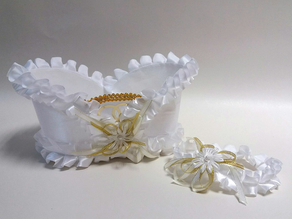 Корзинка под свадебное шампанское Bonita Белая
