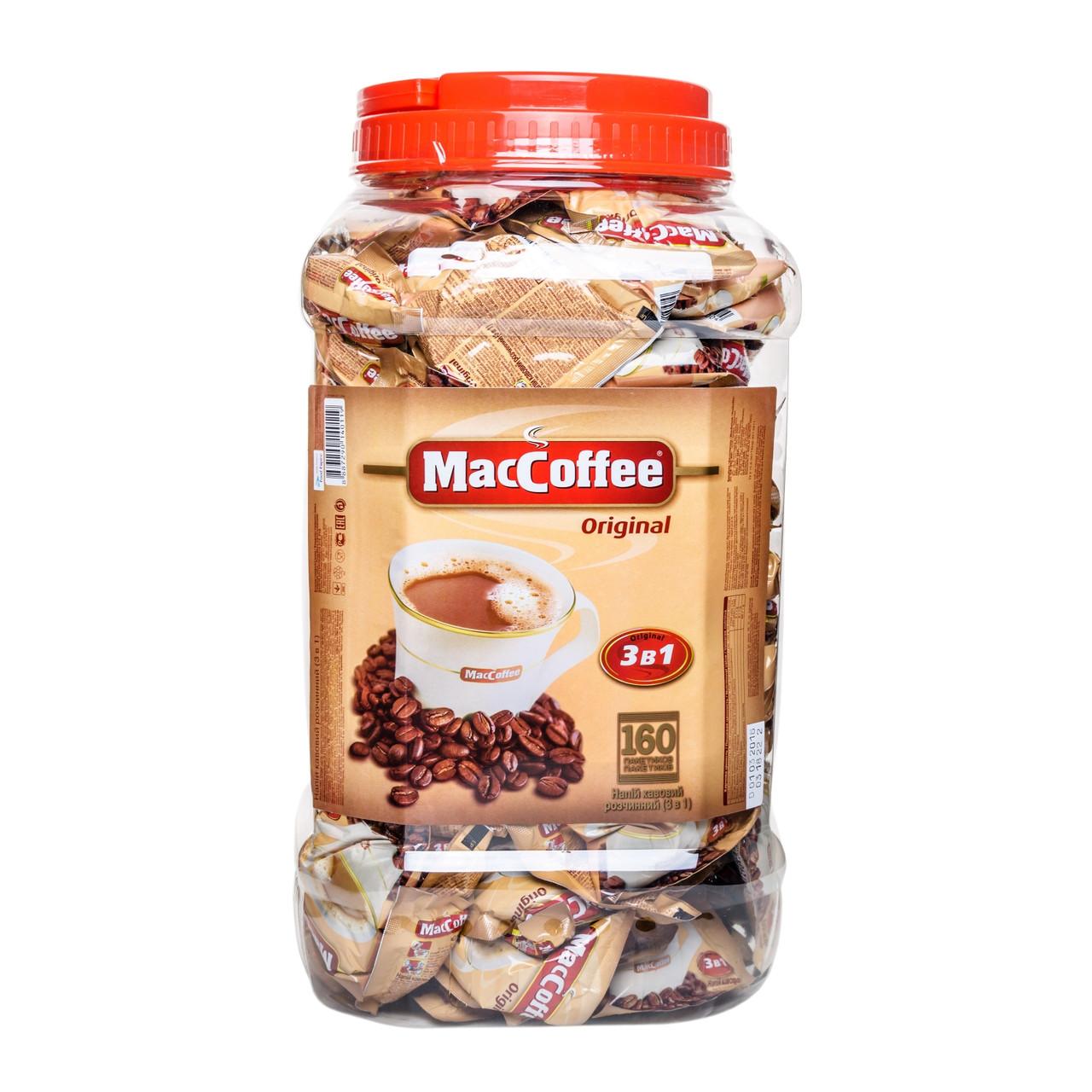 """Кофе растворимый """"MacCoffee"""" original 3в1 п/б 20 г х 160  шт х 6 шт в ящике"""