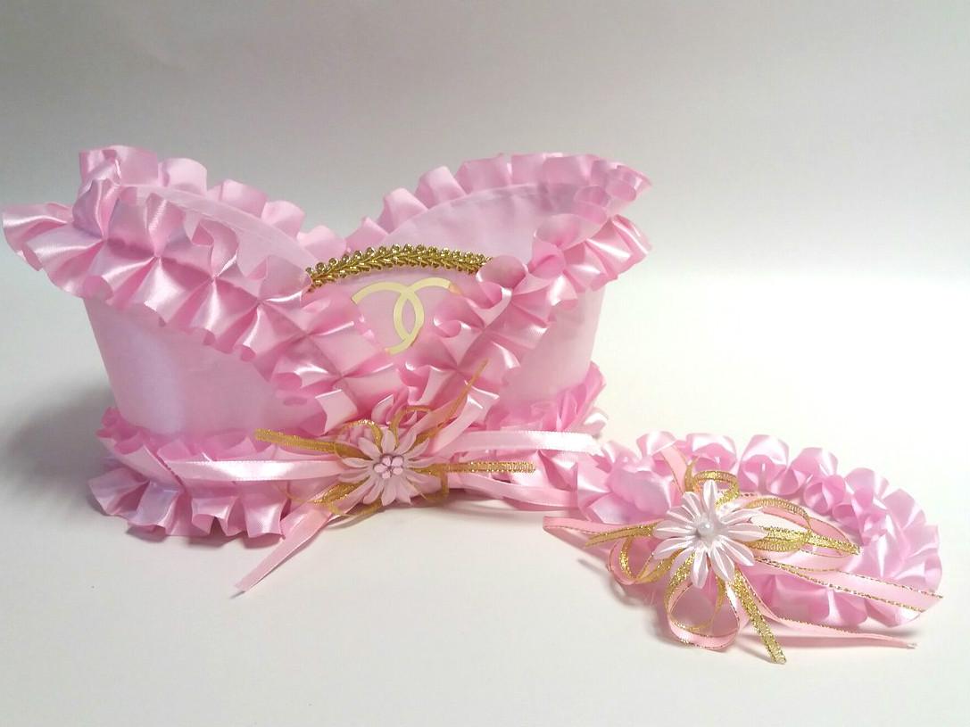 Корзинка под свадебное шампанское Bonita Розовая