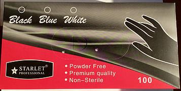 Перчатки STARLET нитриловые черные 100 шт./уп размер S