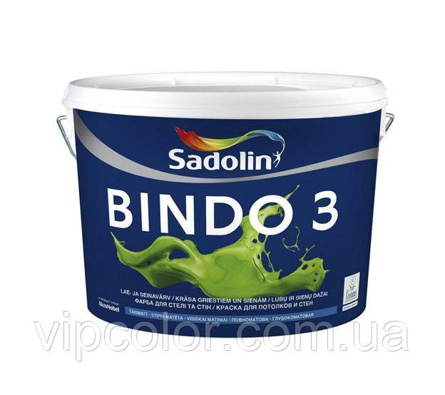 Sadolin BINDO 3 BW Белый 10 л краска для стен глубокоматовая